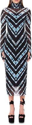 AFRM Shailene Long Sleeve Print Mesh Dress