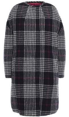 Isabel Marant Harrison Reversible Prince Of Wales Checked Wool And Quilted Shell Coat