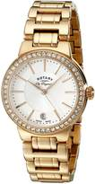 Rotary Women's lb90085/02l Analog Display Swiss Quartz Rose Gold Watch