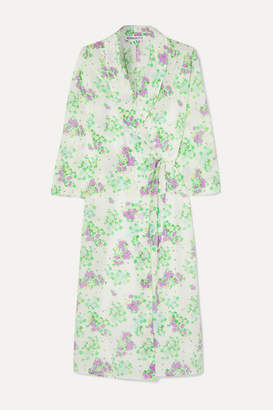 Bernadette BERNADETTE - Elle Floral-print Silk Crepe De Chine Wrap Midi Dress - Green