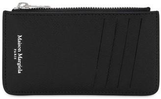 Maison Margiela Leather Wallet W/Zip Pocket