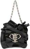 Emilio Pucci ruffled shoulder bag - women - Sheep Skin/Shearling/Polyester/Polyurethane - One Size
