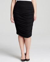 Vince Camuto Plus Draped Pencil Skirt