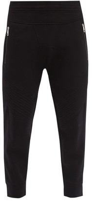 Neil Barrett Quilted-panel Jersey Track Pants - Black