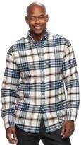 Croft & Barrow Men's True Comfort Plaid Classic-Fit Flannel Button-Down Shirt