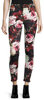 7 For All Mankind Floral Super Skinny Jeans