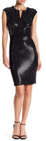 Taylor Cap Sleeve Sequined Shift Dress