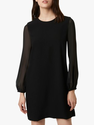 French Connection Aada Crepe Mini Dress, Black