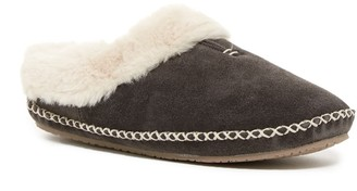 Minnetonka Carolina Faux Fur Lined Clog Slipper
