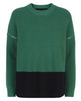 Jaeger Wool Zip-Off Sleeve Sweater