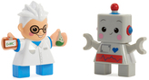 Little Tikes Scientist & Robot Waffle Blocks Double-Figure Toy