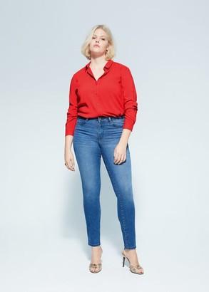 MANGO Violeta BY Flowy shirt red - 10 - Plus sizes