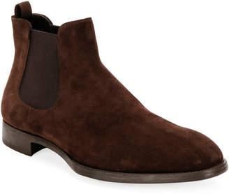 Giorgio Armani Men's Suede Chelsea Boots