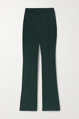 Victoria Beckham Wool-gabardine Straight-leg Pants - Emerald