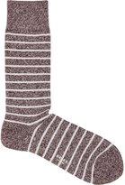 Reiss Reiss Grayson - Mottled Stripe Socks In Red, Mens