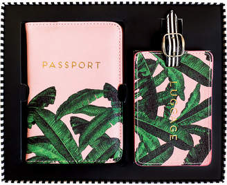 Alice Scott - Banana Leaf Luggage Tag & Passport Cover