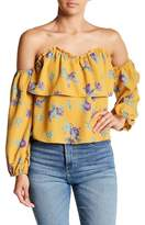 Dee Elly Off-the-Shoulder Floral & Ruffle Detail Blouse