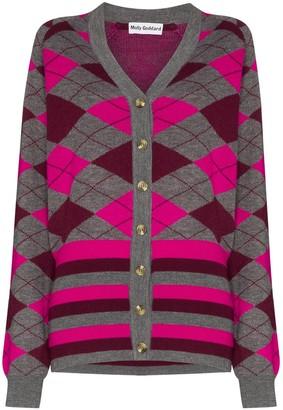 Molly Goddard Gabriella argyle knit cardigan