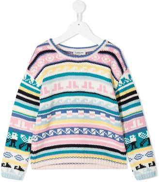 Lanvin Enfant Intarsia Knit Jumper