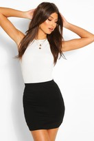 Boohoo Maisy Basic Bodycon Mini Skirt
