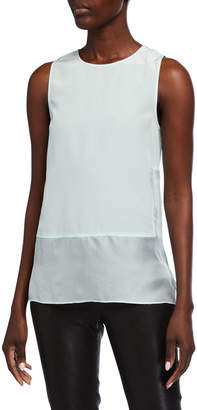 Sleeveless Silk-Blend Gauze Top