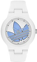 adidas Women's 'Aberdeen' Quartz Plastic and Silicone Casual Watch, Color:White (Model: ADH3142)