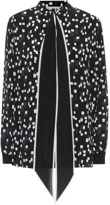 Givenchy Printed silk-crepe blouse
