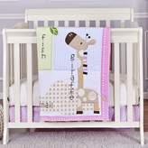 Dream On Me Jungle Friends 3-Piece Reversible Portable Crib Bedding Set