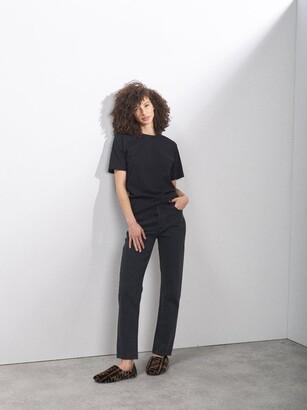 Raey Recycled-yarn Cotton-blend T-shirt - Black