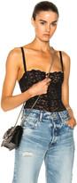 Fleur Du Mal Charlotte Lace Balconette Bodysuit