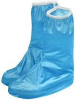 uxcell® Women Anti-Slip Zippered Waterproof Rain Shoes Cover Pair US 10