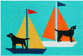 "Liora Manné Front Porch Indoor/Outdoor Sailing Dogs 2'3"" x 6' Runner Rug"