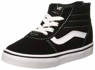 Vans Unisex Babies Ward Hi Zip Low-Top Sneakers (Suede Canvas) Black/White Car 7.5 UK