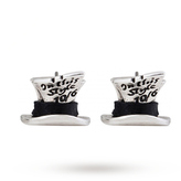 Disney White Gold Plated Mad Hatter Studs