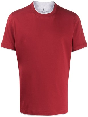 Brunello Cucinelli short-sleeve fitted T-shirt