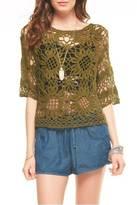 GeeGee Floral Crochet Top