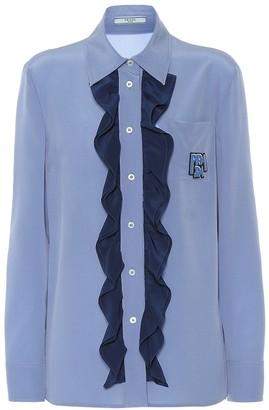 Prada Ruffled silk shirt
