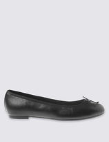M&S Collection Leather Ballerina Pump Shoes