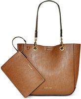 Calvin Klein Distressed Reversible Tote with Pouch