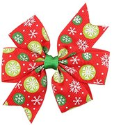 Gillberry Baby Girls Christmas Ornaments Bowknot Hairpin Headdress (A)