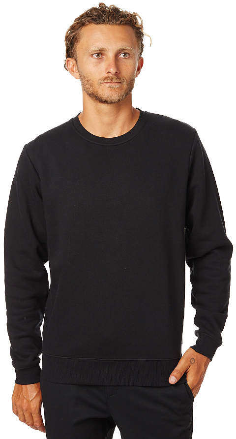 Swell Basic Mens Crew Black