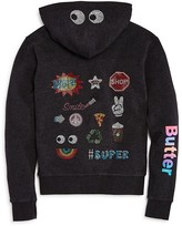 Butter Shoes Girls' Rhinestone Design Collage Hoodie - Big Kid