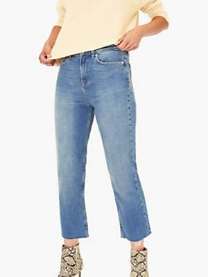 Oasis Edie Cropped Jeans, Light Wash