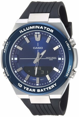 Casio Men's Illuminator Stainless Steel Quartz Watch with Polyurethane Strap