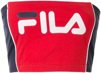 Fila Logo-Print Cropped Bandeau Top