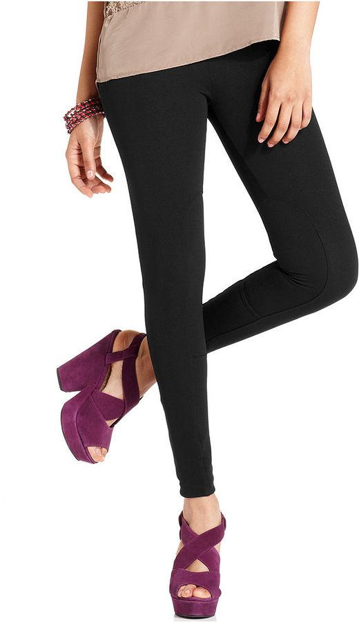Bar III Pants, Solid Knit Patch Leggings