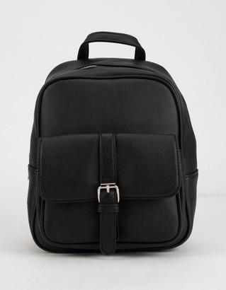FULL TILT Buckle Detail Black Mini Backpack