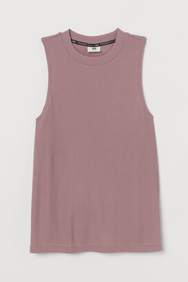 H&M Ribbed Sports Tank Top