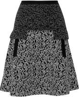 Oscar de la Renta Wool-blend jacquard-knit mini skirt