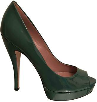 Gucci Green Patent leather Heels